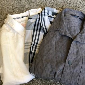 Vans, Quicksilver button up shirts lot of (3)